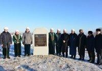 В Кукморском мухтасибате установлен памятный камень на месте будущей мечети