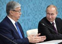 Путин поздравил Токаева с Днем независимости Казахстана