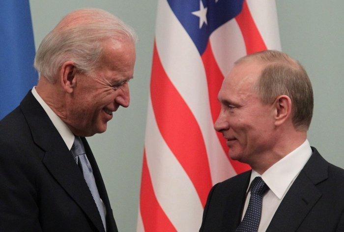 Путин и Байден на одной из предыдущих встреч.