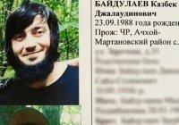 В Чечне ликвидирован участник незаконного вооруженного формирования