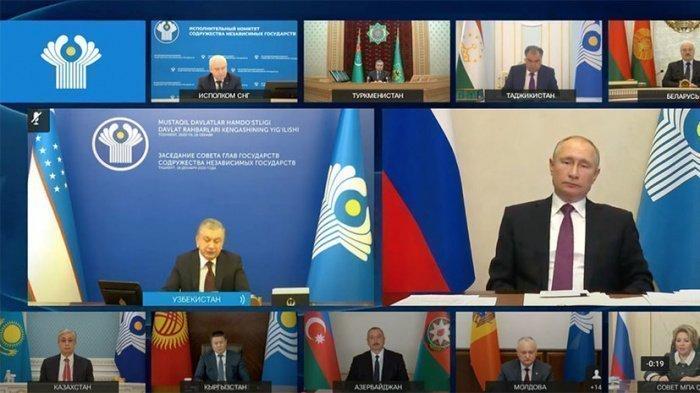 Владимир Путин принял участие в заседании Совета глав государств СНГ.