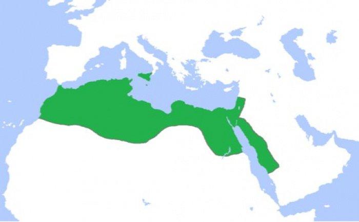 Фатимидский халифат на пике своего расцвета, около 969 г.