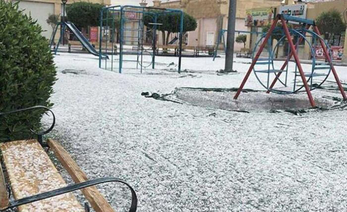 Снег в Аравии: капризы природы в объективе местных жителей