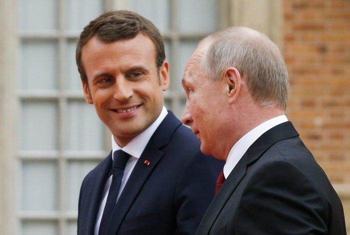 Лидеры России и Франции на одной из предыдущих встреч.