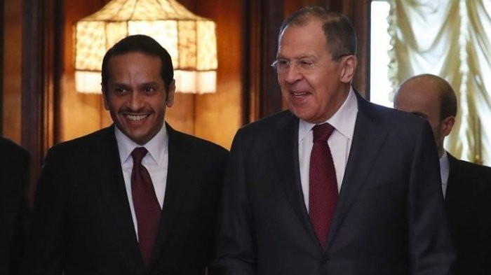 Главы МИД России и Катара на одной из предыдущих встреч.