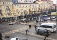 Опубликовано видео с места перестрелки в Грозном