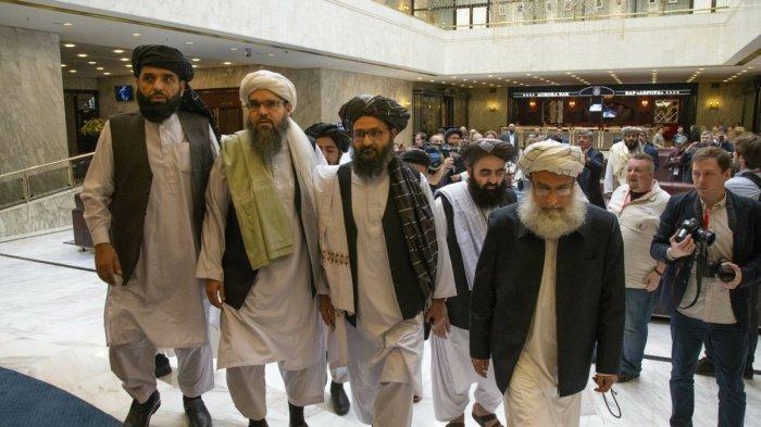 Делегация талибов на предыдущих межафганских переговорах в Дохе.