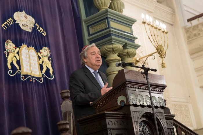 Антониу Гутерриш рассказал о влиянии пандемии на рост антисемитизма.