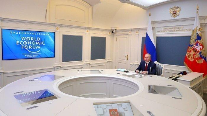 Президент РФ выступил на Всемирном экономическом форуме в Давосе.