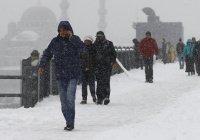 В Стамбуле из-за аномального снегопада закрыты все учебные заведения
