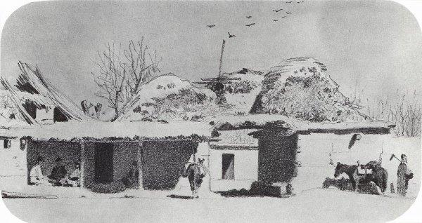 Постоялый двор близ Ташкента (художник: Василий Верещагин).
