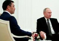 Путин поблагодарил Жапарова за сохранение статуса русского языка в Киргизии
