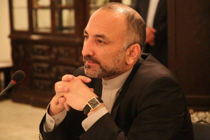 Мохаммад Ханиф Атмар впервые прибыл в Москву в качестве главы МИД Афганистана.