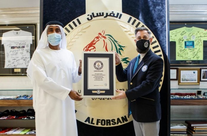 В ОАЭ изготовили самую большую в мире медаль.