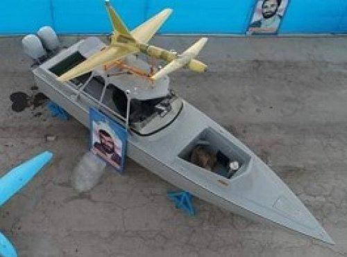 БПЛА Абабиль-2 установленный на скоростной катер