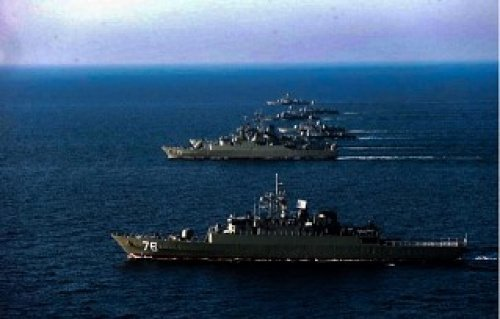 Корабли ВМС Ирана на учениях