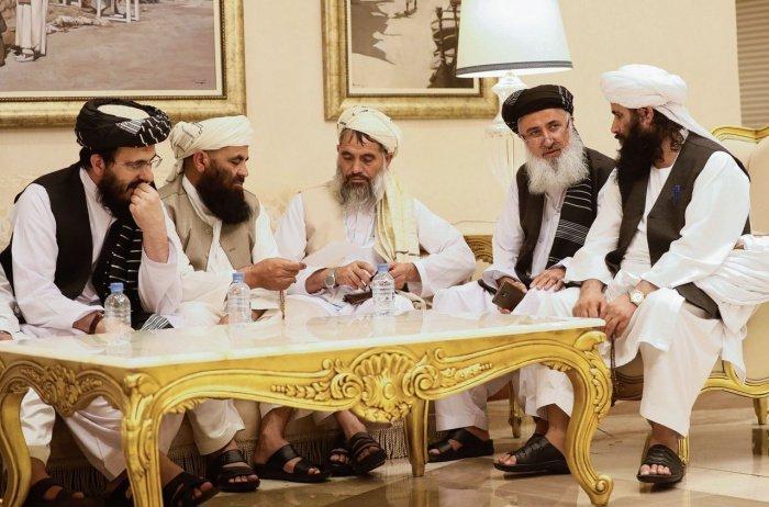 Делегация талибов в Дохе.