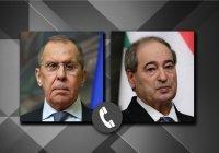 Лавров рассказал главе МИД Сирии об итогах визита в страны Персидского залива