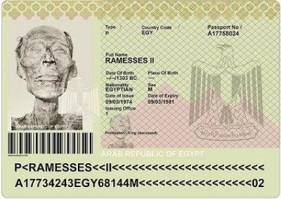Египетский паспорт Рамзеса II выданный для въезда во Францию (Источник фото: onedio.ru).