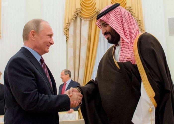 Путин и принц Мухаммед на одной из предыдущих встреч. (Фото: yandex.ru).