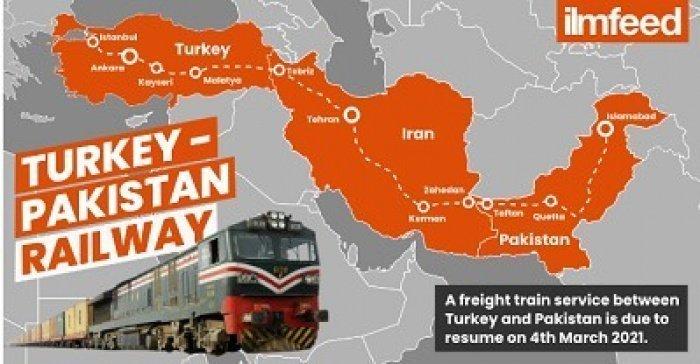 Схема турецко-пакистанского транспортного коридора (Фото: ilmfeed.com).