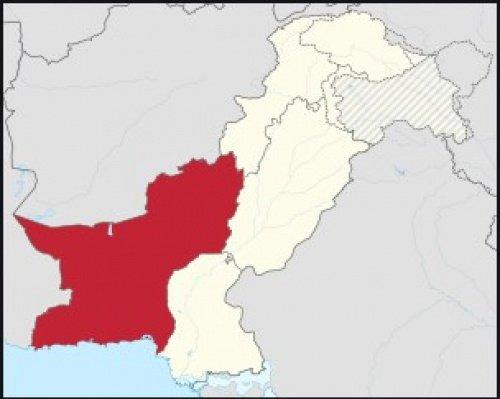 Провинция Белуджистан на карте Пакистана.