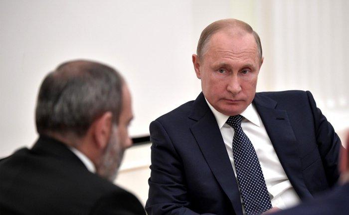 Путин и Пашинян на одной из предыдущих встреч. (Фото: yandex.ru).