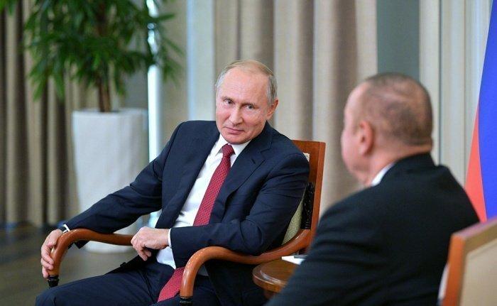 Путин и Алиев на одной из предыдущих встреч. (Фото: yandex.ru).