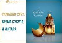 Рамадан-2021: время сухура и ифтара для городов России