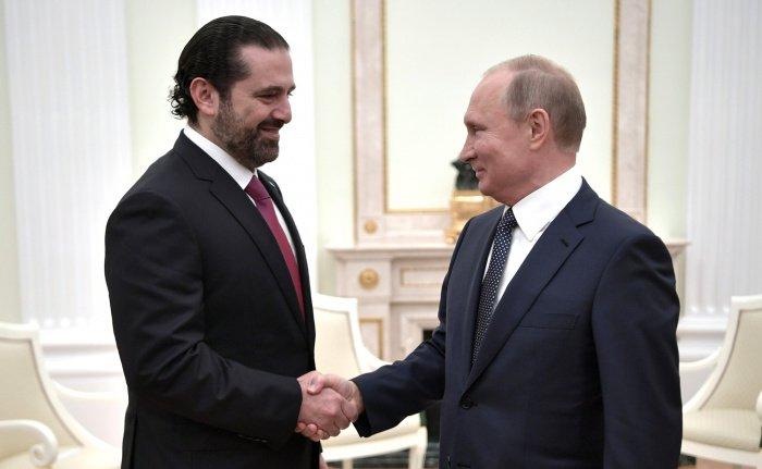 Путин и Харири на одной из предыдущих встреч. (Фото: yandex.ru).