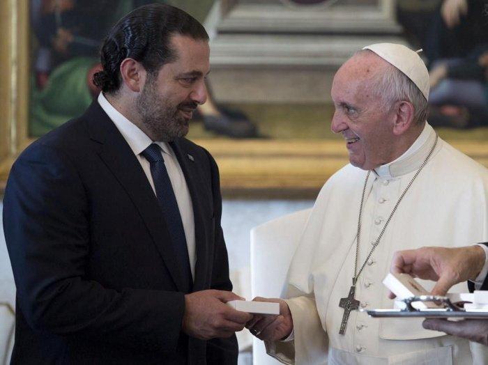 Папа Римский Франциск и Саад Харири. (Фото: yandex.ru).