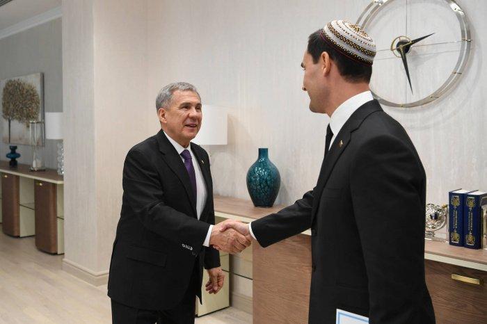 Минниханов и Бердымухамедов. (Фото: пресс-служба президента РТ).