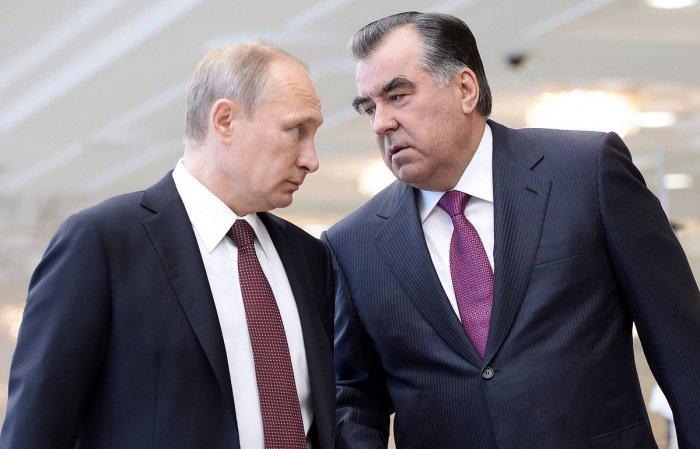 Путин и Рахмон на одной из предыдущих встреч. (Фото: yandex.ru).