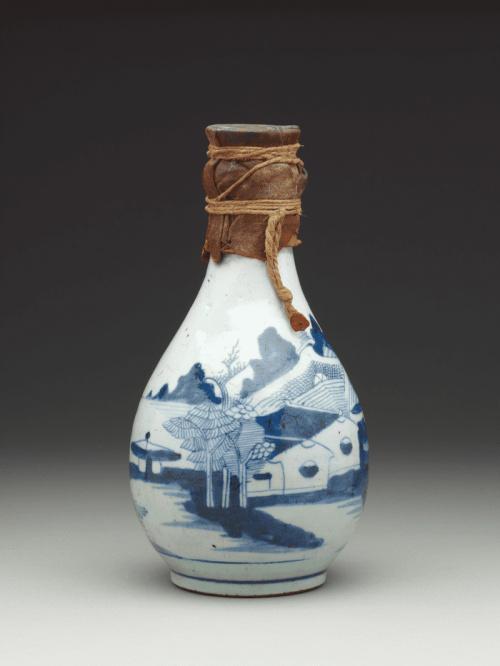 Китайская фарфоровая бутылка для Замзам, Египет - Китай, 1750-1828 гг. Из коллекции Британского музея