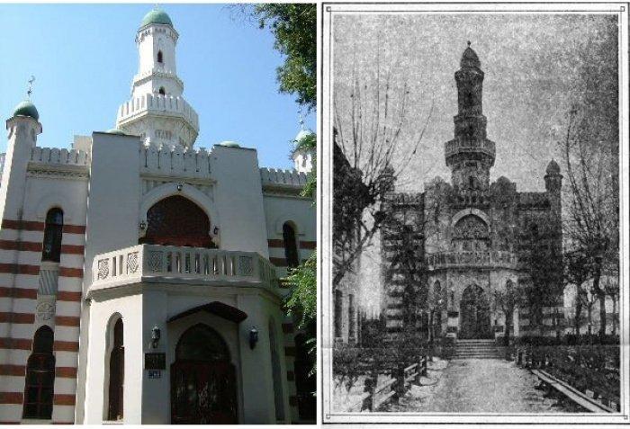 Татарская мечеть Харбина в честь 1000-летия принятия ислама булгарами. Из личного архива Равиля Салихмета - племянника Гиниятуллы хазрата.