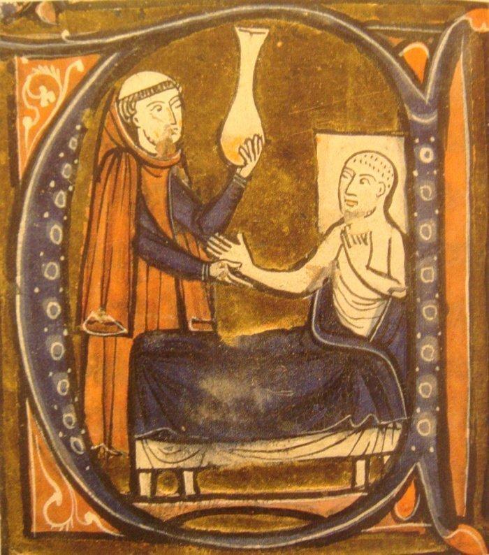 Из перевода медицинского трактата ар-Рази на латинский язык сделанный Герардом Кремонским.