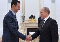 Путин поздравил Асада с победой на выборах президента Сирии