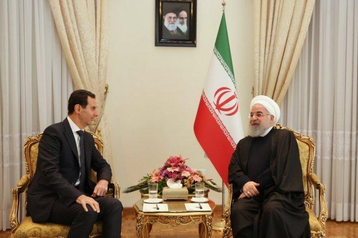 Асад и Роухани на одной из предыдущих встреч. (Фото: en.mehrnews.com).
