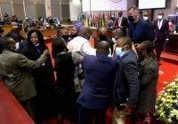 Депутаты парламента Африканского союза устроили драку на заседании