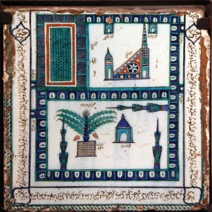Плитка XVII века с изображением Равды.