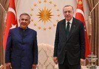 Президент Татарстана Рустам Минниханов встретился с Эрдоганом