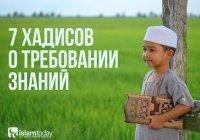 7 хадисов о требовании знаний