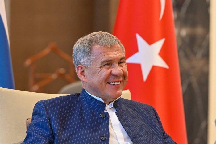 Минниханов в ходе визита в Турцию в июне 2021 года. (Фото: пресс-служба президента РТ).