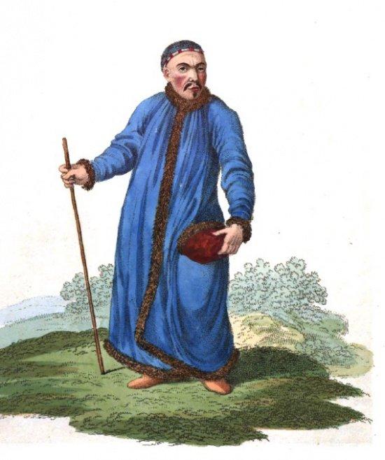 Сибирский бухарец. Источник фото Edward Harding. Costume of the Russian Empire. London. 1811