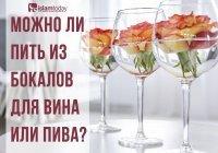 Можно ли пить безалкогольные напитки из бокалов для спиртного?