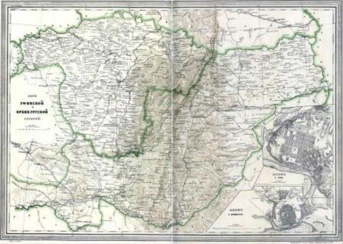 Карта Уфимской губернии (Фото: baig-museum.com).