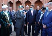 Минтимер Шаймиев ознакомился с ходом строительства мечети в Набережных Челнах