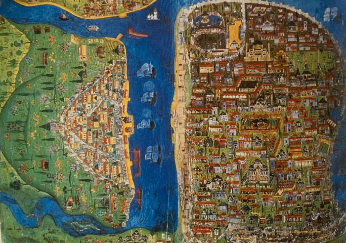 Стамбул сверху 1537-8 год (Фото: sacredfootsteps.org).