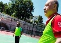 Эрдоган показал, как играет в баскетбол (Видео)