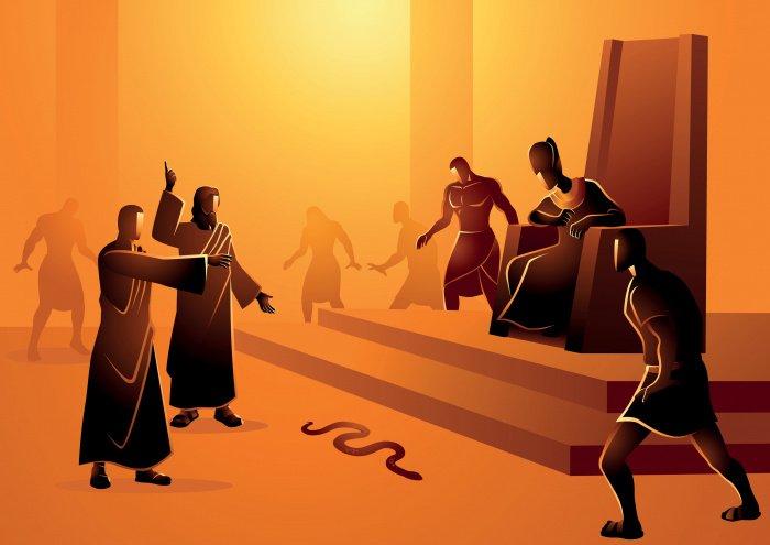 Муса (а.с.) бросил свой посох, и тот на глазах у всех присутствующих превратился в огромную змею (Фото: shutterstock.com).